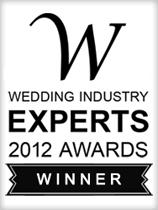 Wedding Idustry Experts 2012 Award Winner