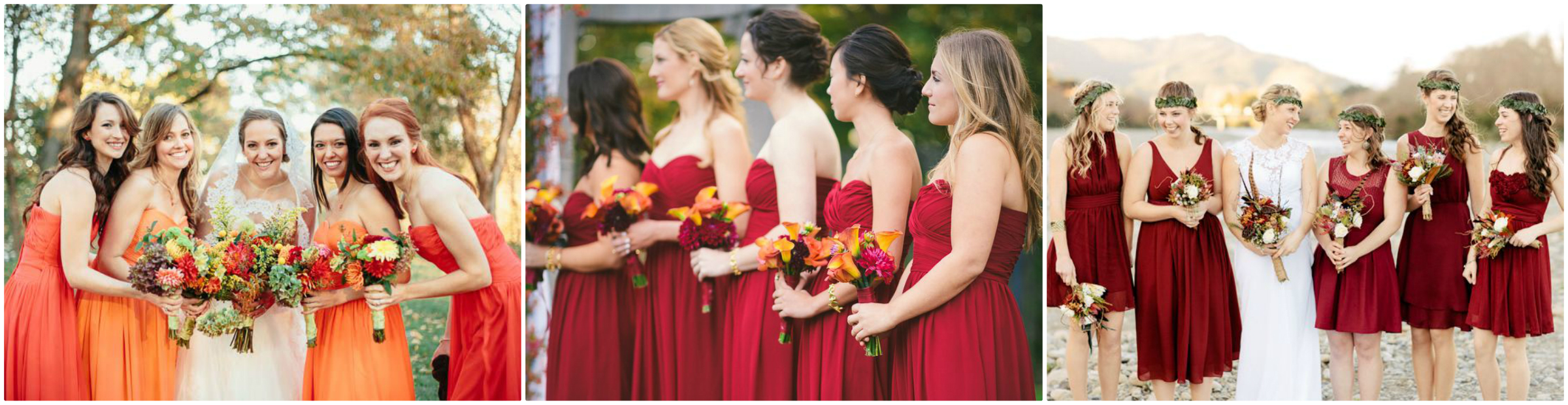 Paperless post wedding inspiration clearly classy events for your bridesmaids have all your ladies matching in the same dress or mix and match colors and styles to give each gal a slightly different look ombrellifo Images